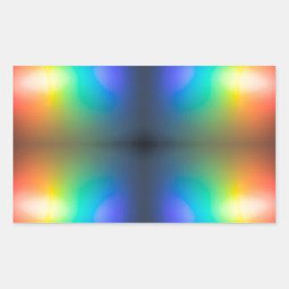 Colour Chaos abstract. Rectangular Sticker