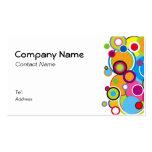 Colour Circles Business Card white