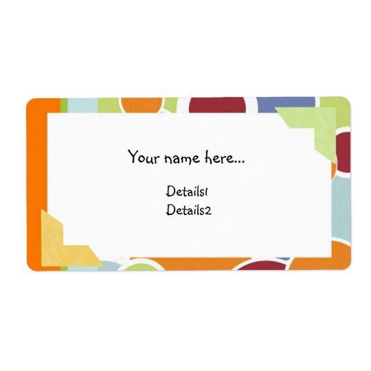 Colour Circles Name Label