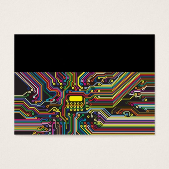 Colour Circuit Board Electronic Template Business Card