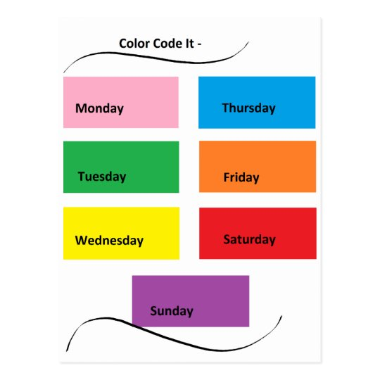 Colour Code It Visual Identifiers Days of the
