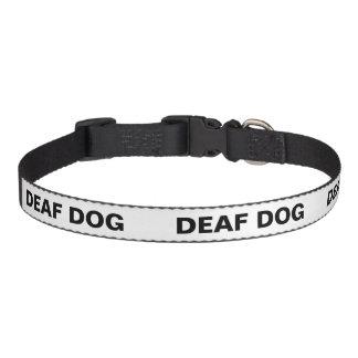 Colour Coded Dog Temperament Collar - Deaf Dog