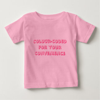 Colour-coded for your convenience baby T-Shirt