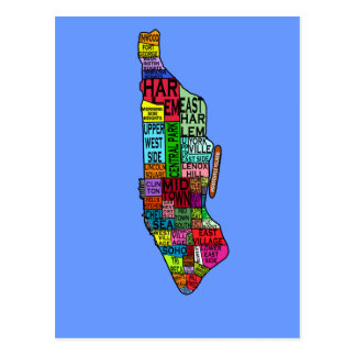 Colour Coded Manhattan NYC Tshirts, Hoodies Postcards