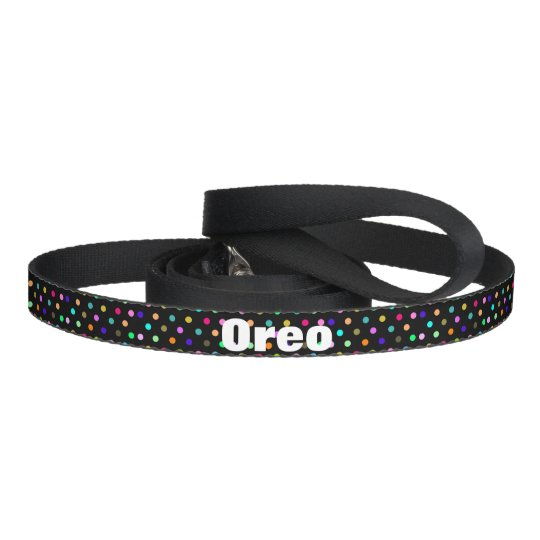 Colour confetti polka dots dog leash