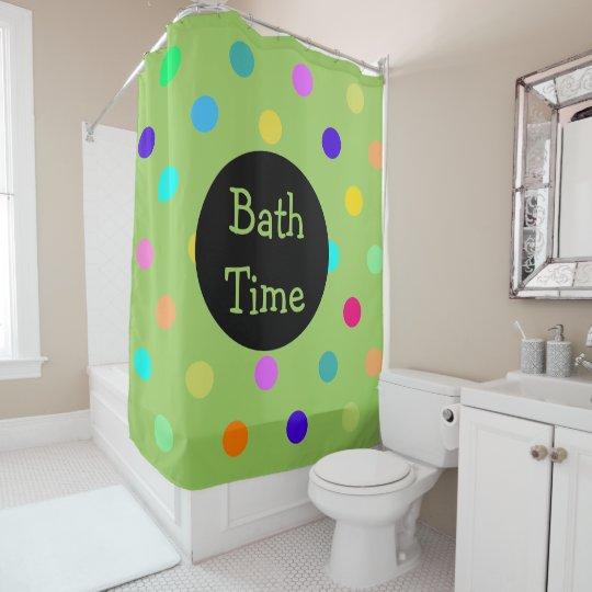 Colour confetti polka dots shower curtain