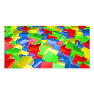 colour cubes custom photo card