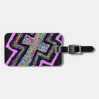 Colour dots and The Cross. Luggage Tag