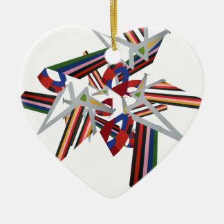 Colour Explosion christmas decorations Ceramic Heart Decoration