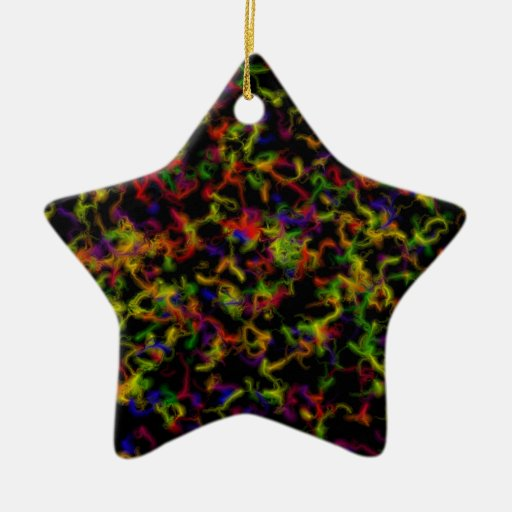 Colour explosion christmas tree ornament