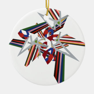 Colour Explosion Christmas Tree Ornaments