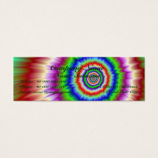Colour Explosion Skinny Business Car Mini Business Card