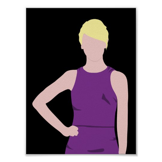 Colour Fashion Silhouette (Blonde) Poster