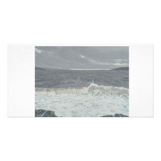 Colour fine art illustrated photocard photo card template