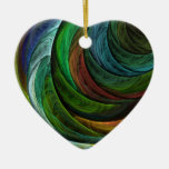 Colour Glory Abstract Art Heart Ornament