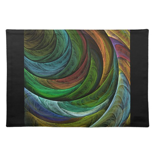 Colour Glory Abstract Art Placemat