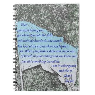 Colour Guard Flag Inspiration Notebook