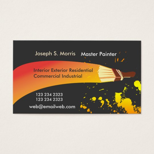 Colour House Painter Artistic Brush Business Card