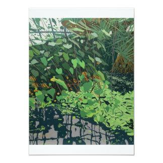 Colour illustrated fine art invitation card