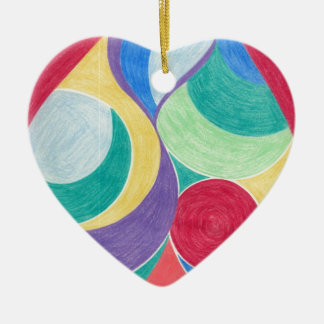 colour in abstract christmas ornament
