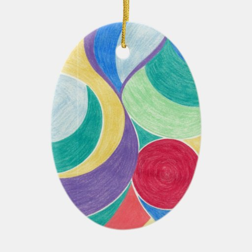 colour in abstract christmas ornaments