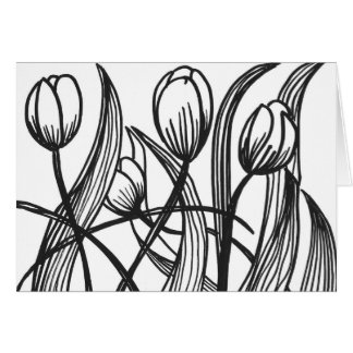 colour it in tulips in springtime card
