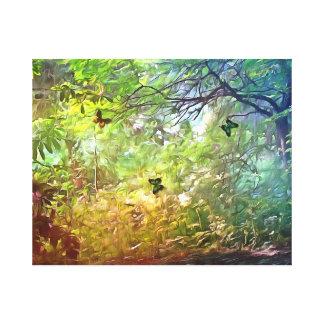 colour jungle canvas print