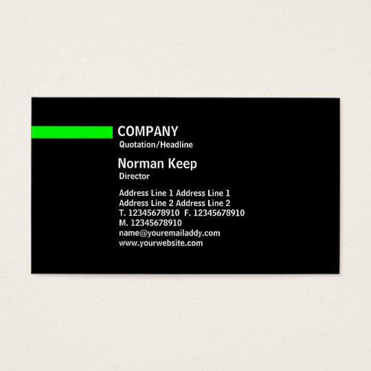 Colour Line - Green Business Card