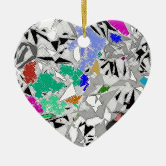 Colour Marble Abstract Design Ceramic Heart Decoration