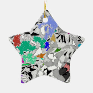 Colour Marble Abstract Design Christmas Ornament