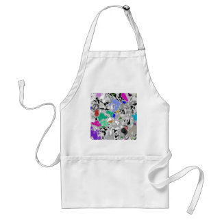 Colour Marble Abstract Design Standard Apron
