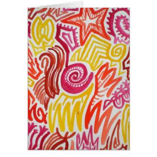 Colour Maze Doodle Notecard