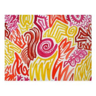 Colour Maze Doodle Postcard