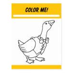 Colour Me Activity Card Postcards