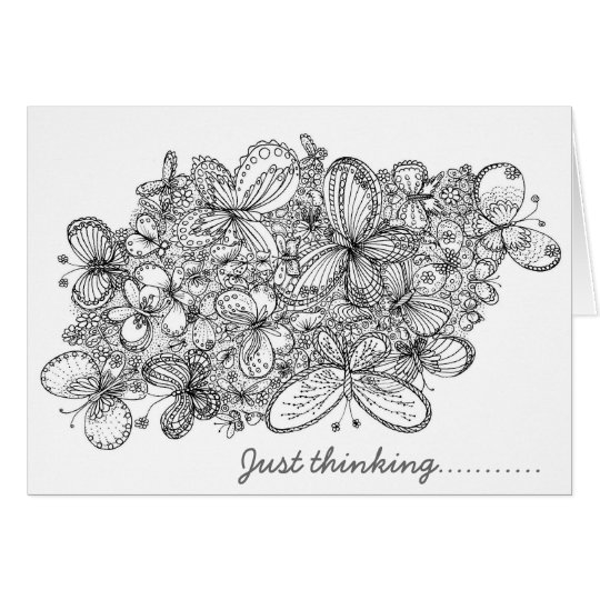 Colour Me Butterfly Card