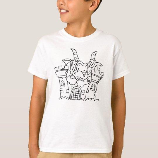 Colour Me Dragon and Castle T-Shirt