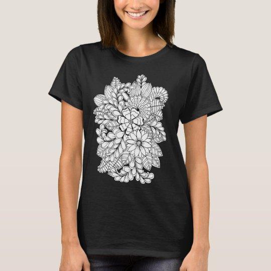 Colour Me Floral Group DIY Doodle T-Shirt