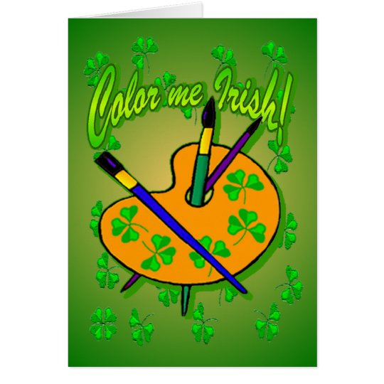 Colour Me Irish Greeting Cards