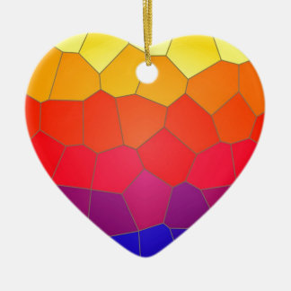 Colour mosaic tiles ceramic heart decoration