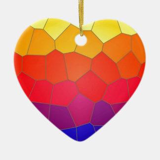 Colour mosaic tiles christmas ornament