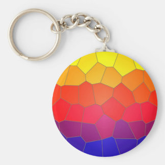 Colour mosaic tiles key chain