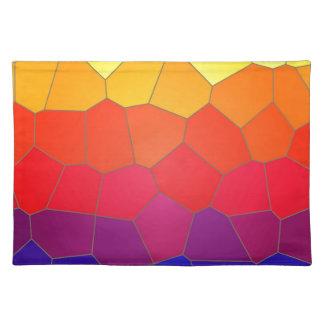 Colour mosaic tiles placemat