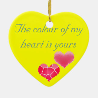 Colour of my heart ornaments