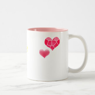 Colour of my heart Two-Tone coffee mug