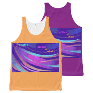 Colour of Wind Unisex Tank Top Purple Orange Blue