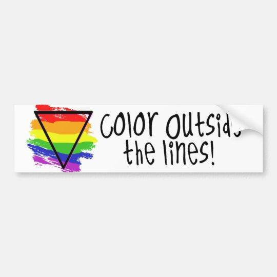 Colour Outside The Lines Bumper Sticker