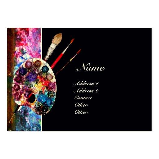 Colour palette 2 monogram painter artist art pack of for Painting artist business cards