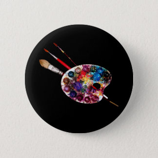 COLOUR PALETTE,Painter,Artist 6 Cm Round Badge
