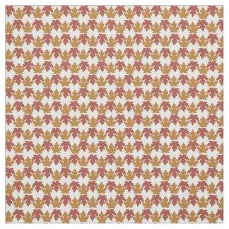 Colour Pattern Autumn Leaves Fabric