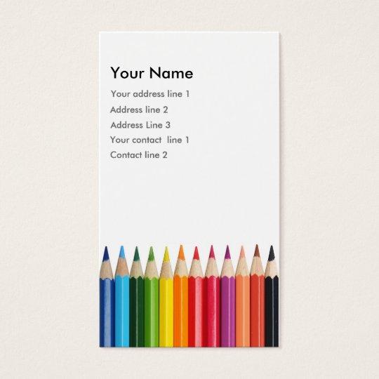 Colour Pencil Business card